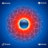 Abstract background social network infographic Royalty Free Stock Photography