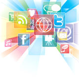 Abstract Background Social Networking Stock Image