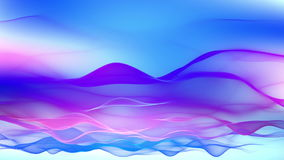 Abstract background, soft colorful flowing waves animation Royalty Free Stock Photography