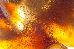 Abstract background of soft drink and ice Stock Images