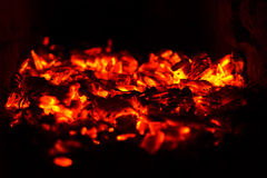 Abstract background of soft focus burning coals Stock Photos