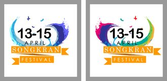 Abstract Background Songkran Festival Stock Images
