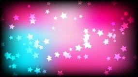 abstract background space Ένας πολύχρωμος αστερίσκος σε ένα ρόδινο και μπλε φωτεινό χρωματισμένο υπόβαθρο Ελεύθερη απεικόνιση δικαιώματος