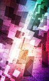 Abstract background space. Abstract colorful spatial grid background stock illustration