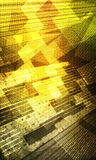 Abstract background space. Abstract Green yellow spatial grid background Stock Image