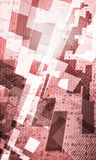 Abstract background space. Abstract red spatial grid background Stock Images