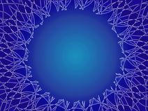 Abstract background with space for text in the middle. Artistic frame. Openwork background in blue tones Royalty Free Stock Photo