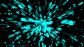 Abstract background with space travel. Seamless loop stock footage