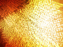Abstract background space. Abstract yellow orange spatial grid background royalty free illustration