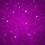 Abstract background: sparkling, twinkling stars. Abstract dark violet (petunia) background with sparkling, twinkling stars. Cosmic atmosphere illustration Royalty Free Stock Photography