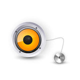 Abstract background speaker icon Royalty Free Stock Photography