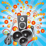 Abstract background with speakers Royalty Free Stock Photo