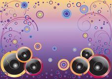 Abstract background with speakers. Stock Photography