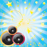 Abstract background with speakers. Royalty Free Stock Photography