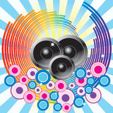 Abstract background with speakers. Royalty Free Stock Photos