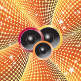 Abstract background with speakers. Stock Image