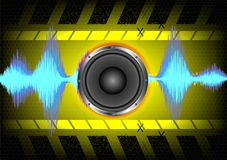 Abstract background. speakers and sound waves.  Stock Image