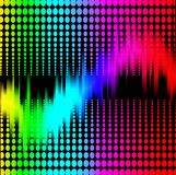 Abstract background with spectrum equalizer on black Royalty Free Stock Photos