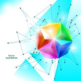 Abstract background with spectrum geometric sphere. Eps10 Vector Illustration