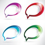 Abstract background with speech bubble Stock Images
