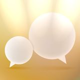 Abstract background with Speech bubbles on gold. Stock Image