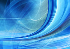 Abstract background, speed motion. Blurred motion toward the light. Computer generated blue futuristic illustration Royalty Free Stock Photography