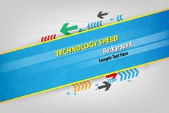 Abstract background speed technology for text. Vector illustrati. On Stock Illustration