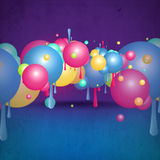 Abstract background sphere design. Abstract background design with colourful sphere shapes stock illustration
