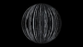 Abstract background with a sphere formed from the lines. 3d rendering stock illustration