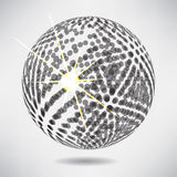 Abstract background with sphere on theme digital technology. And internet Stock Photo