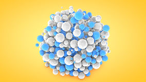 Abstract background with spheres, 3D rendering, plastic material.  Vector Illustration