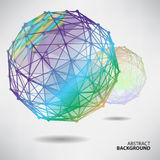 Abstract background with spheres on theme digital technology Stock Photography