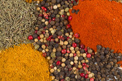 Spices. Abstract background of spices and herbs Royalty Free Stock Image