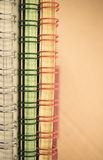 Abstract background - spiral bound blocks of paper Stock Photos