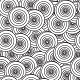 Abstract background with spiral circles. Black-and-white abstract background with spiral circles. Seamless pattern. Vector illustration Stock Photography