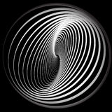 Abstract background with spiral movement. Vector illustration royalty free illustration