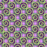 Abstract background with spiral and star elements in purple and green Royalty Free Stock Images