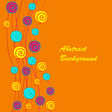 Abstract background with spirals. On the orange phone Stock Photos