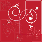 Abstract background with spirals Royalty Free Stock Images