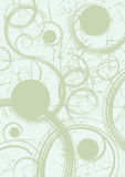 Abstract background with spirals and dots Stock Photography
