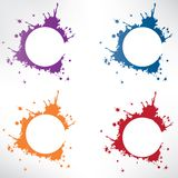Abstract background with splash Stock Photo