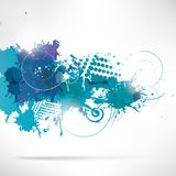 Abstract background with splash Royalty Free Stock Photos