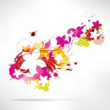 Abstract background with splash and flowers. This is file of EPS10 format royalty free illustration