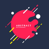Abstract background with a splash, lines and round in a flat minimalist style. Bright vector illustration Royalty Free Stock Images