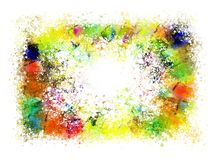 Abstract background with splashes of paint. Royalty Free Stock Images