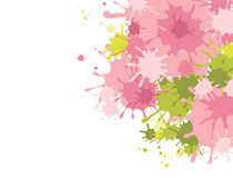 Abstract background -- splashes of pink paint stock illustration