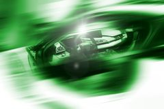 Abstract background of sport car. Abstract futuristic background of sport car in the motion  and with bright light Stock Images
