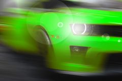 Abstract background of sport car. Abstract futuristic background of sport car in the motion  and with bright light Stock Image