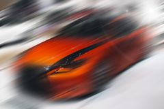 Abstract background of sport car in the motion. Abstract futuristic background of sport car in the motion Royalty Free Stock Image