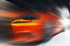 Abstract background of sport car in the motion. Abstract futuristic background of sport car in the motion Stock Photography